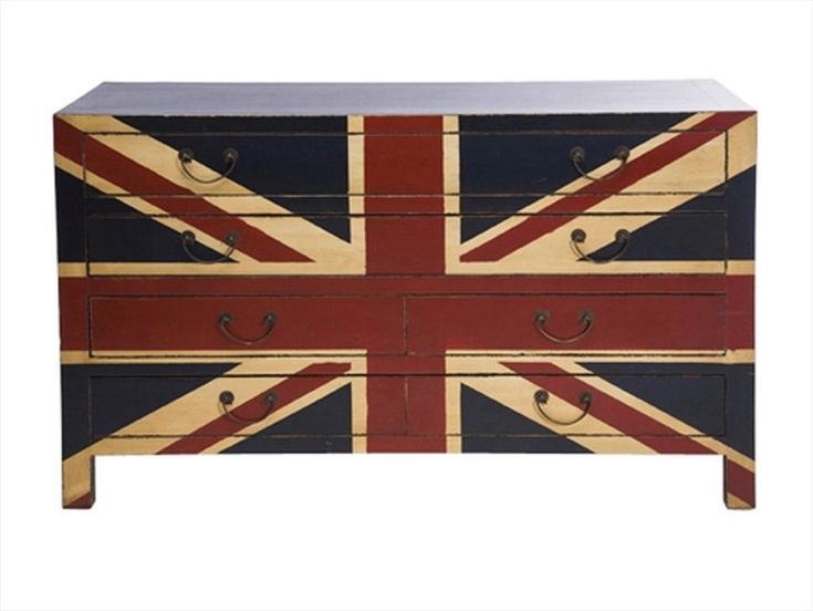 Wooden chest of drawers Jack Union Jack Collection by KARE-DESIGN