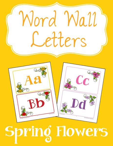 Add some spring joy to your classroom or homeschool walls and bulletin boards with these brightly colored word wall letters.