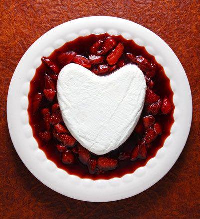 Coeur à la Crème with Caramelized Strawberries Recipe - Saveur.com