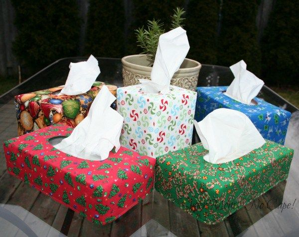 Make Reversible Tissue Box Covers in different sizes