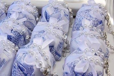 Baptism Toile du Jouy by Piccolo Sogno Design batizado azul