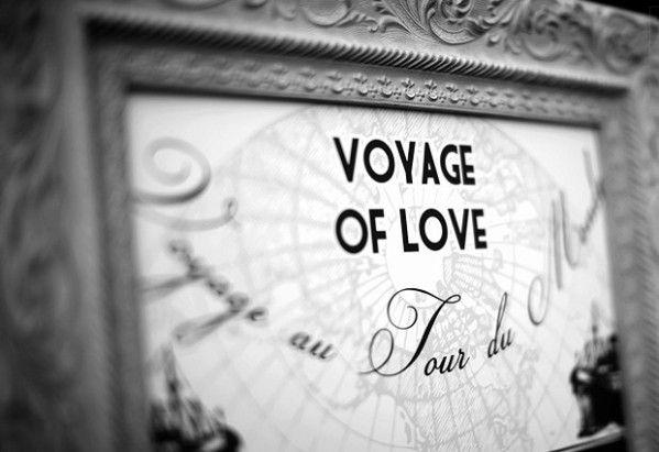 Mariage thème le voyage