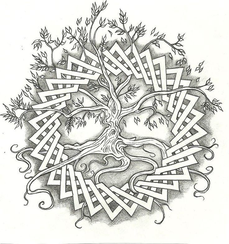 Requested Tattoo Design For A Celtic Tree Of Life This Should Turn Out Really Cool