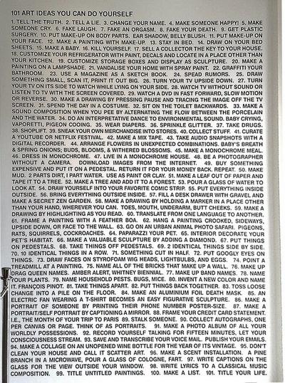 Rob Pruitt - 101 Art Ideas You Can Do Yourself