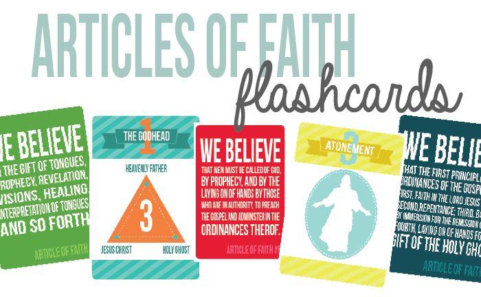 Articles of Faith Flashcards   Mormon Share