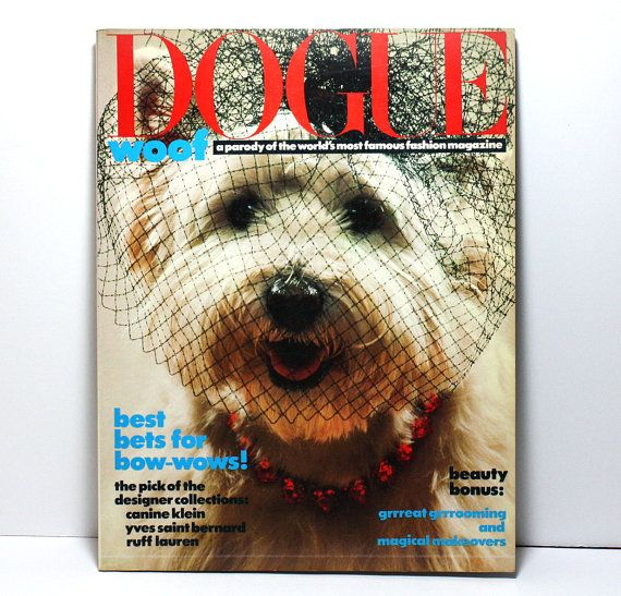 Dogue Magazine Vogue Magazine Parody Fashion by craftsandtrinkets