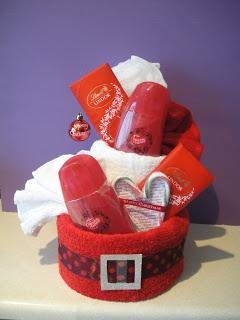 female Christmas pamper cake