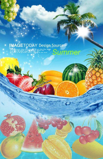 水果超市海报PSD分层素材