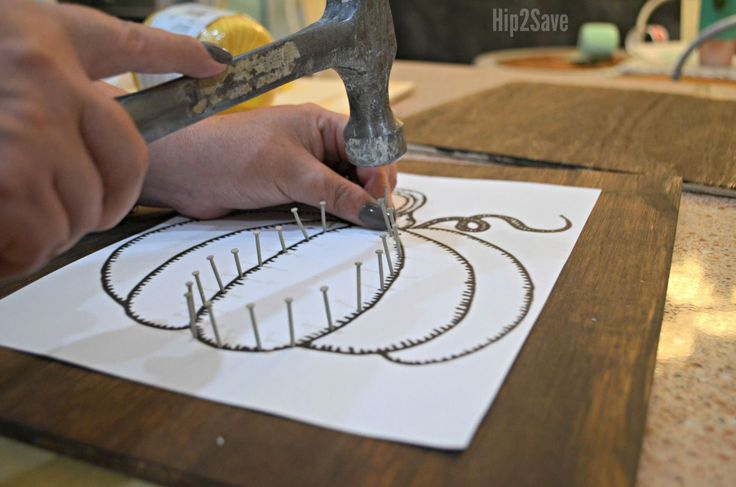 Get crafty this fall by making some festive DIY string art to display as festive seasonal decor!