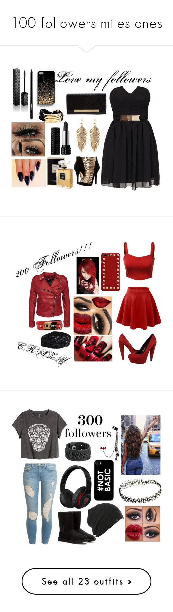 """""""100 followers milestones"""" by musicmelody1 ❤ liked on Polyvore featuring Elise Ryan, MICHAEL Michael Kors, Gillian Julius, Chanel, Gucci, M.A.C, Fiorelli, Kat Von D, LE3NO and J.TOMSON"""