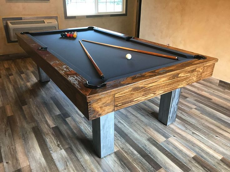 Golden West Billiard custom pool table with matching shuffleboard.