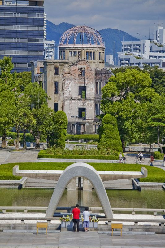HIROSHIMA A-BOMB MEMORIAL by Michael Trezzi  The O-dome is still standing in Hiroshima, and they built the Peace Park around it. Visiting this park was one of the most profound and heartbreaking experiences of my life.