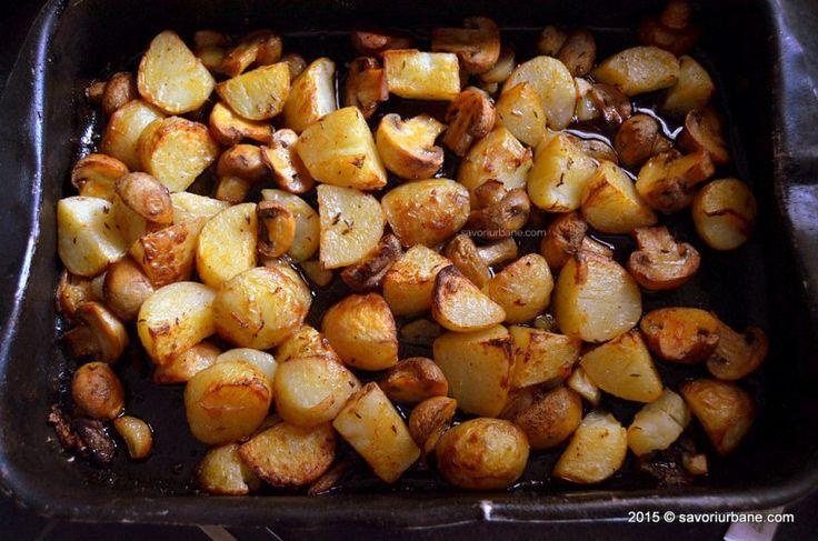 Cartofi noi la cuptor cu ciuperci Savori Urbane (9)