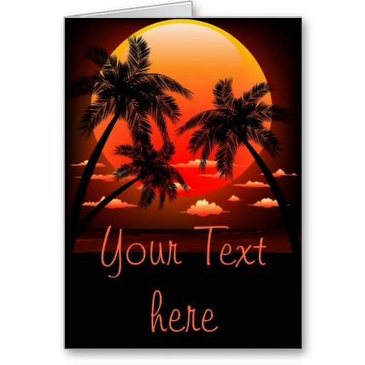 #Warm #Topical #Sunset and #Palm #Trees #greeting #cards   http://www.zazzle.com/warm_topical_sunset_and_palm_trees_greeting_cards-137755095003730448
