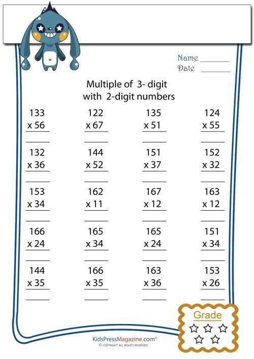 107 best Multiplication Practice Worksheets & Bundles images on ...