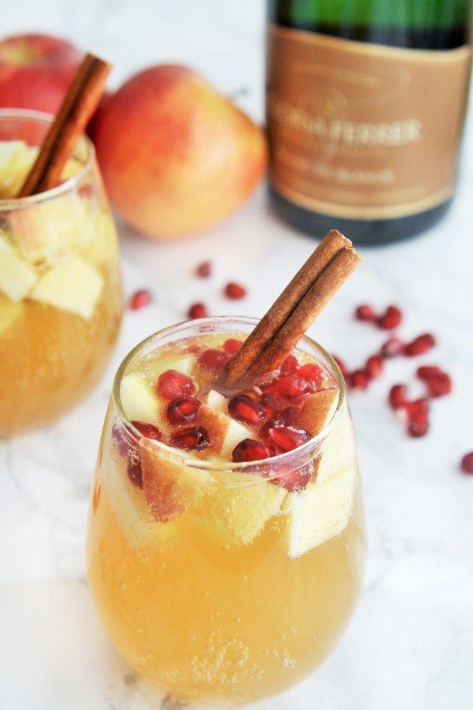 Sparkling Spiced Apple Sangria