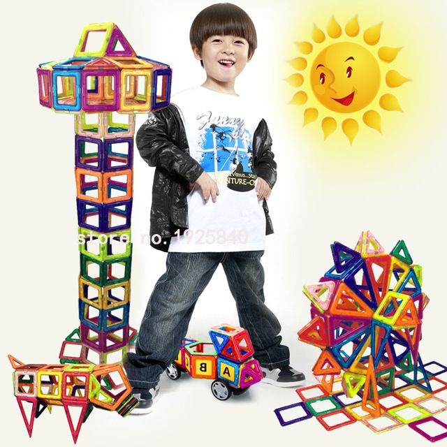 132pcs Mini Magnetic Designer Construction Set  Model & Building Toy Plastic  Magnetic  Blocks Educational Toys  For Kids Gift