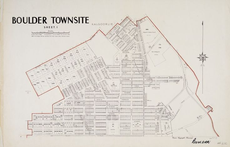 BOULDER, Sheet 1 Cadastral map showing land use. Part of collection: Townsite…