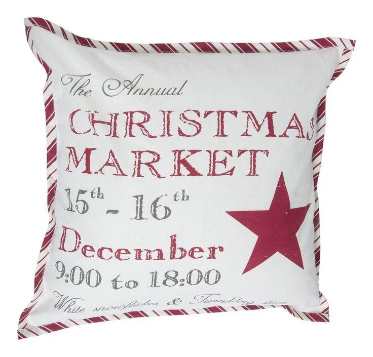 """KOTIKULTA Tyynynpäällinen Christmas 50x50 cm  (6,99€)  Muutkin tämäntyyliset, """"vanhan ajan joulu"""" -henkiset sisustuskamat olis tosi JEEEE! :)"""