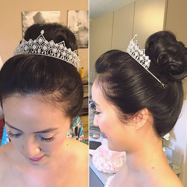 So in love with this princess updo 😍