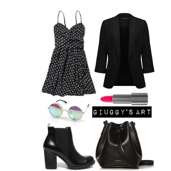 Black Sunday by giuggysart on Polyvore featuring polyvore, moda, style, Abercrombie & Fitch, Forever New, Steve Madden and Rachael Ruddick