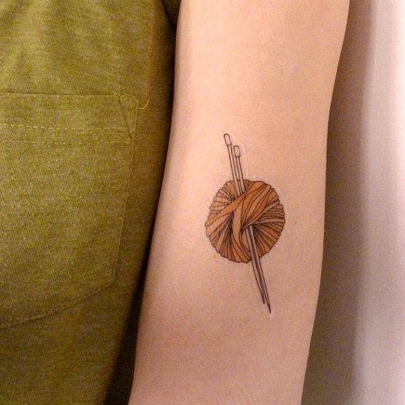 Because I DO need a knitting tattoo...
