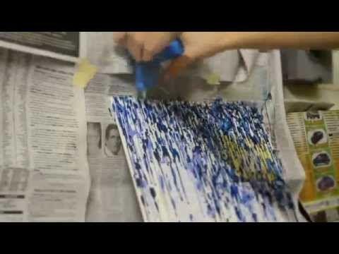 Melted Crayon Art (using a hot glue gun)   MinuteIdeas.com