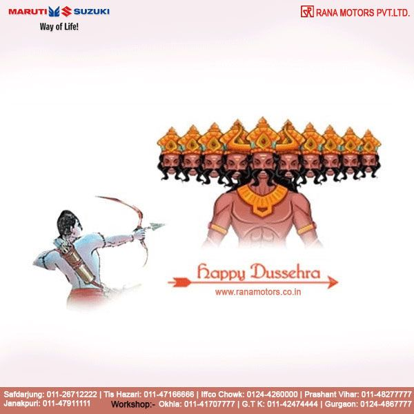 May this Dussehra burn all your tensions with Ravan and bring lots of happiness and full fill all your dreams. Wish you a Happy Dussehra. www.ranamotors.co.in  #HappyDussehra #Dussehra #Happiness #Dreams #RanaMotors #NewDelhi #Gurgaon