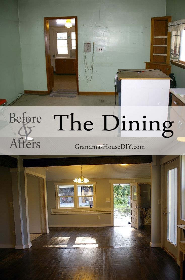 Before and after gallery after fifteen months of renovation remodeling a 100 year old farm house in northern Minnesota. House tour, home decor, interior design, house decorating. The dining room.