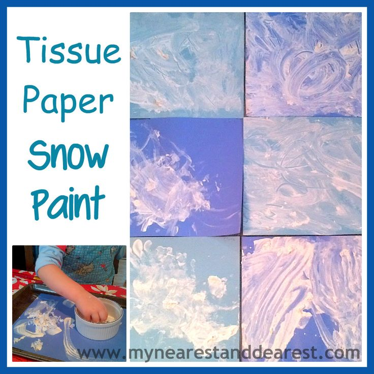 Tissue Paper Snow Paint Sensory And Process Based