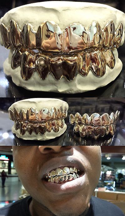 Grillz Dental Grills 152808: Solid 10K White Gold Custom Fit Real Grill Gold Teeth Grillz. BUY IT NOW ONLY: $195.0