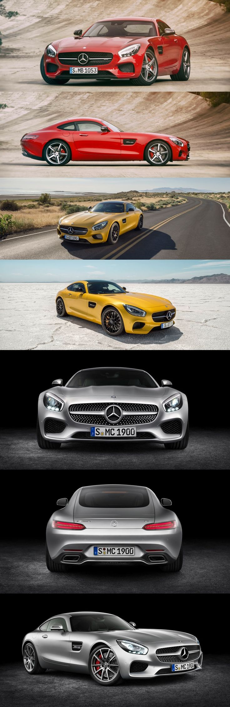 2016 Mercedes-Benz AMG GT  [Combined fuel consumption: 9.3 l/100 km  CO2 emission: 216 g/km | http://amg4.me/Efficiency-Statement]