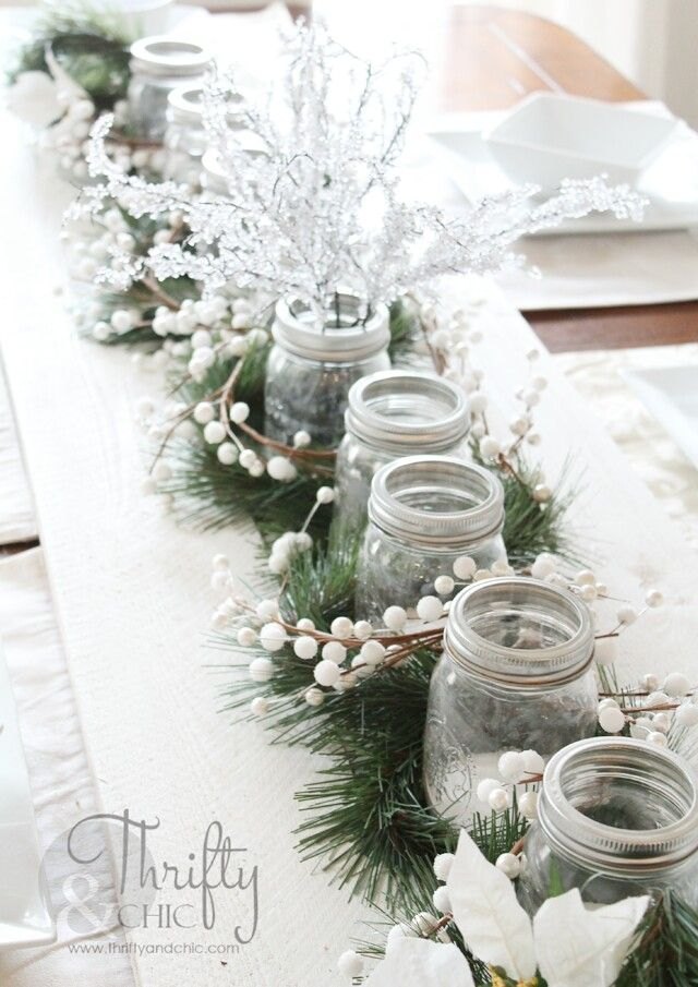Creative Rustic Holiday Table - Thrifty And Chic