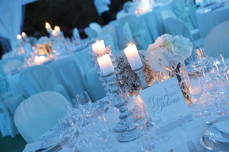 Decorazioni dei tavoli #matrimonio