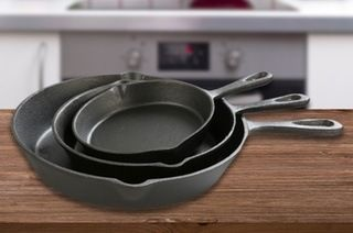 $29 for a Three-Piece Cast Iron Frypan Set