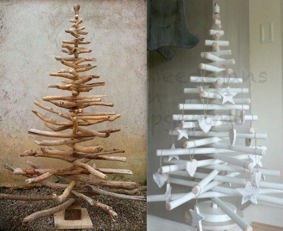 Idées pour faire un sapin de Noël en bois