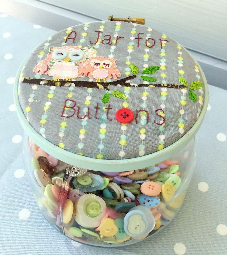 A Jar for Buttons |  http://bustleandsew.com/store/for-your-home/a-jar-for-buttons/