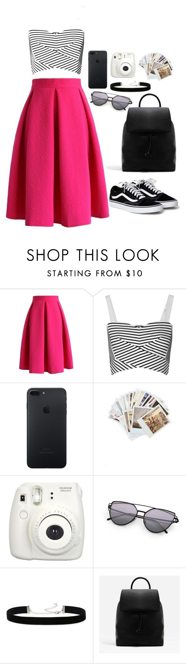 """""""tem rosa, é só achar"""" by caradnada ❤ liked on Polyvore featuring Chicwish, Rebecca Minkoff, Chronicle Books, Fujifilm, 2028 and CHARLES & KEITH"""