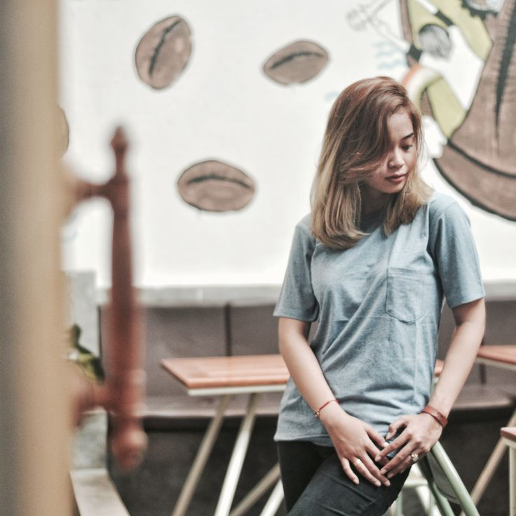 Style is joyful if you allow yourself to have joy. #newarrival T-Shirt Plain Placket Blue Grey