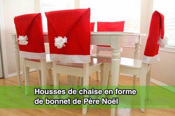Que diriez-vous d'habiller votre salle à manger avec des bonnets de Père Noël ?  Découvrez l'astuce ici : http://www.comment-economiser.fr/housse-chaise-bonnet-pere-noel.html?utm_content=buffer96f80&utm_medium=social&utm_source=pinterest.com&utm_campaign=buffer