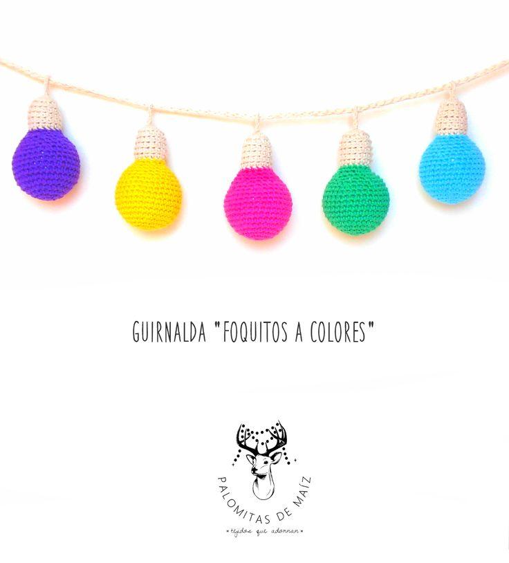 GUIRNALDA A CROCHET FOQUITOS A COLORES en https://ofeliafeliz.com.ar/espacio/palomitasdemaiz