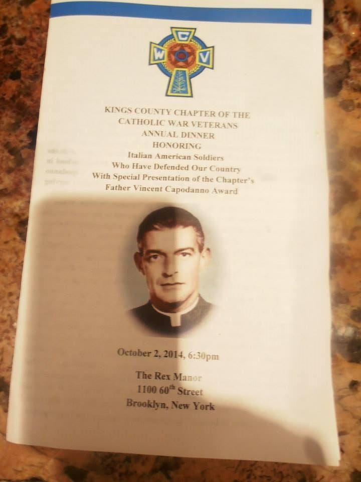 father capodanno | First Annual Father Capodanno Award presented to Fr. DellAnno.