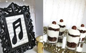 Black and white music themed party by trina