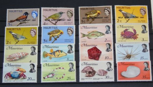 Stamp Pickers Mauritius Classic QEII Mint Lot x 16 Stamps MH