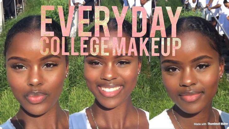 SIMPLE, EASY, EVERYDAY COLLEGE MAKEUP (Darkskin) - YouTube
