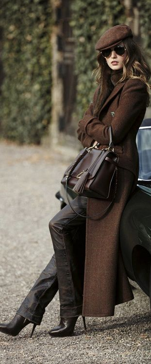 Vogue Brown Coat #UNIQUE_WOMENS_FASHION