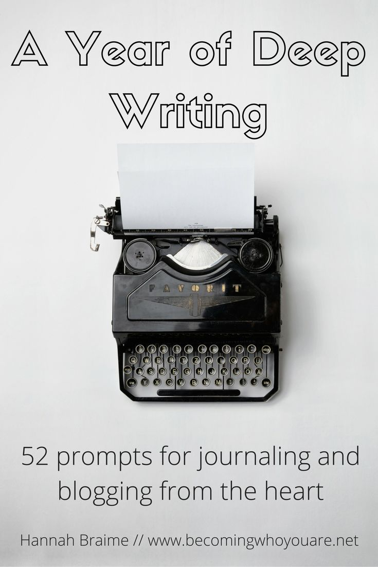 Get 52 prompts for journaling and blogging from the heart (plus 10 other video classes, audios and workbooks) from the Becoming Who You Are library. Register for free at www.becomingwhoyouare.net