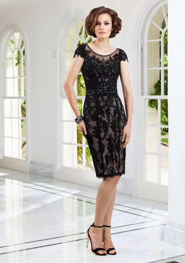 Style EZYVA Lace over Satin  Dress and Stole  Colors Available: Black/Nude, Wedgewood. Sizes Available: 2-26* *Please refer to the VM size chart.