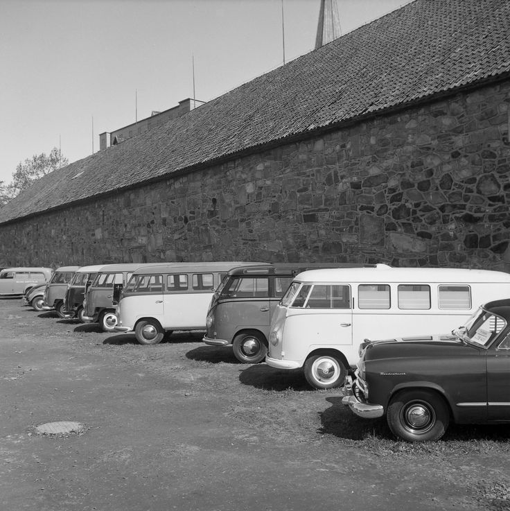 Norwegian VW dealer; Grendahl Auto AS showing some of the range on outdoor exibition in Trondheim, Norway 1953