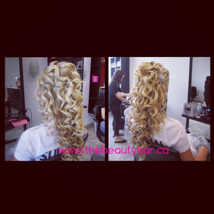 Bridal hair, wand curls